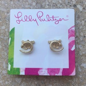 NEW Lilly Pulitzer gold lizard earrings